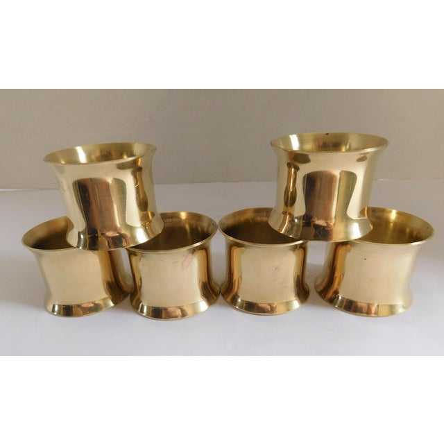Solid Brass Vintage Napkin Rings - Set of 12 For Sale - Image 10 of 13
