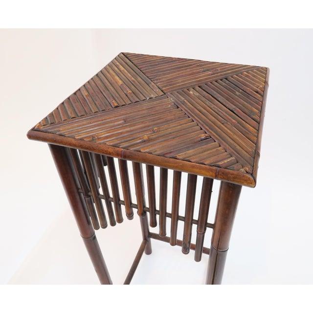 Dark Brown Bamboo Pedestal - Image 6 of 7