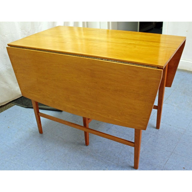 Mid-Century Modern Paul McCobb Planner Group Drop Leaf Dining Table For Sale In Philadelphia - Image 6 of 12