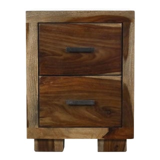 Sierra Living Concepts Two-Drawer Nightstand For Sale