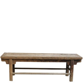Solid Elm Farmhouse Table For Sale