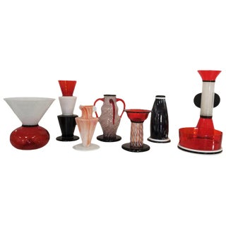 "Sergio Asti for Vistosi ""Sixties"" Complete Vase Collection - 8 Pieces For Sale"