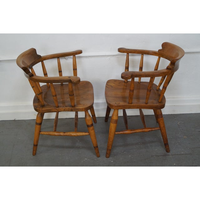English Traditional Antique English 19th Century Pub Chairs - Set of 4 For Sale - Image 3 of 10