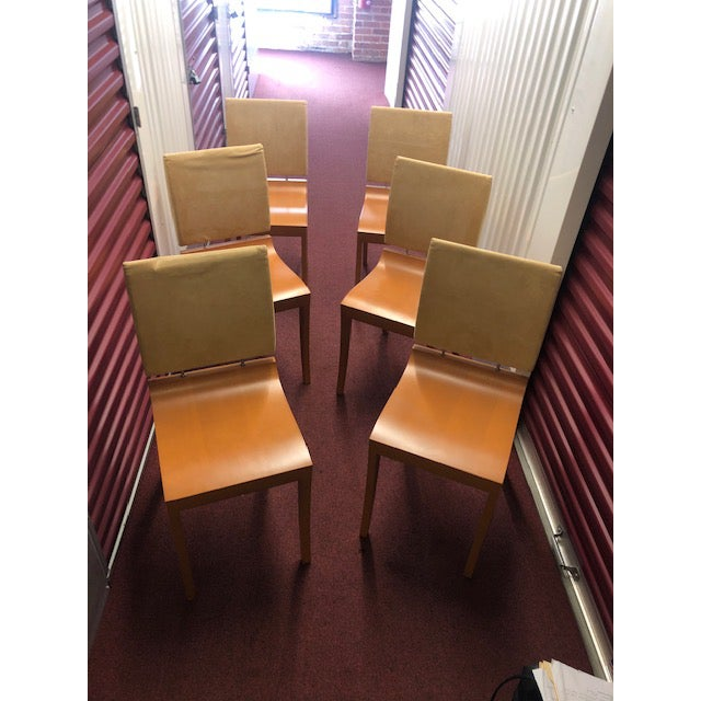 Wood Mid 20th Century Ligne Roset Chairs - Set of 6 For Sale - Image 7 of 7