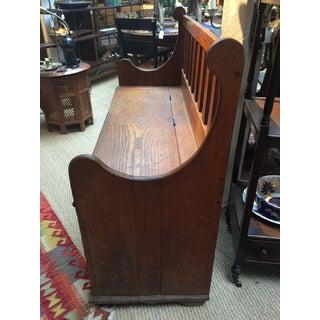 1930s Antique Oak Lift Top Bench Preview