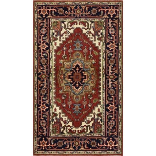 Heriz Serapi Rug Hand-Knotted 3'1'' X 5'2'' For Sale
