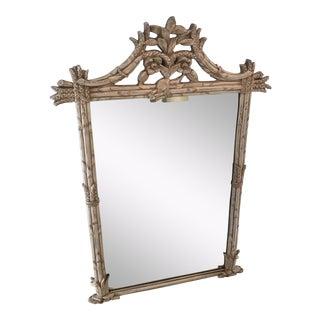 1970s Americana Carolina Mirror Company Off-White Wall Mirror