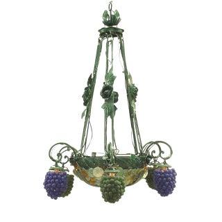 Italian Venetian Six-Arm Chandelier For Sale