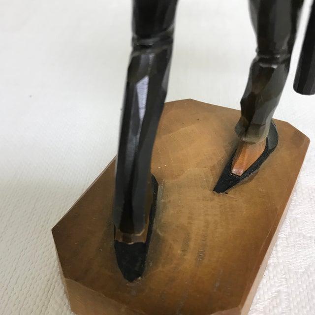 Vintage Anri Hand Carved German Chimney Sweep Wood Figurine For Sale - Image 11 of 12