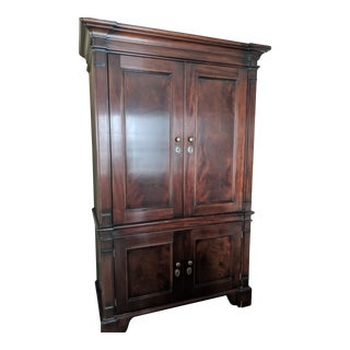 Modern Milling Road by Baker Mahogany Armoire For Sale