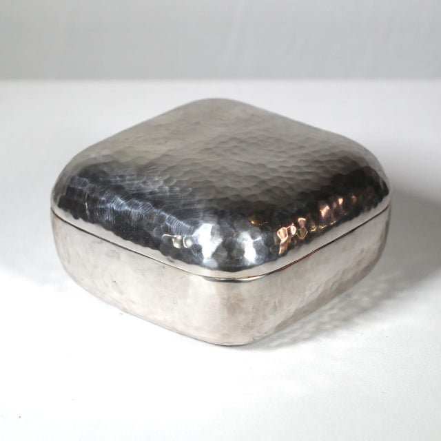 Hammered Silver Plated Box - Image 2 of 3