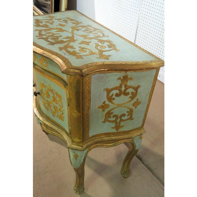 Louis XV Antique Louis XV Style Distressed Painted Side Table For Sale - Image 3 of 9