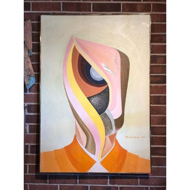 1970s Large 1973 Oil Painting by Michaelsen For Sale - Image 5 of 5