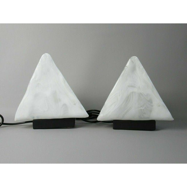 Murano Modernist Glass Bedside Lamps 1970s Flos Stilnovo Arteluce - a Pair For Sale In Richmond - Image 6 of 6
