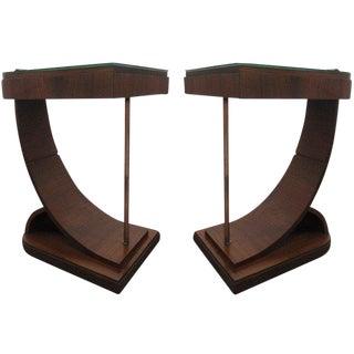 Pair Art Deco End Tables For Sale