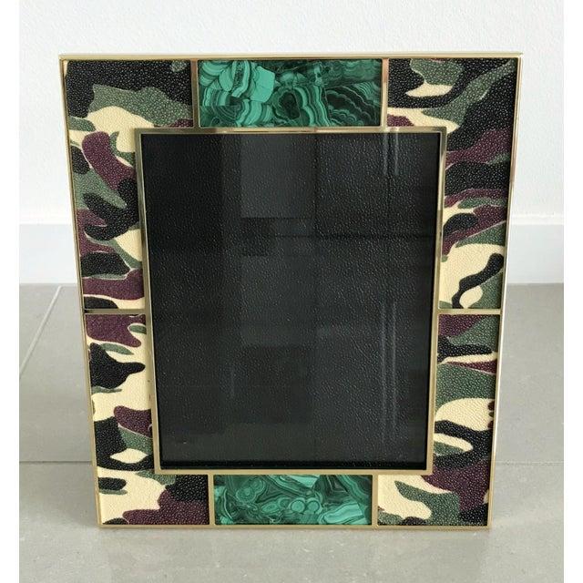 Modern Camoflauge Shagreen Photo Frames For Sale - Image 3 of 10