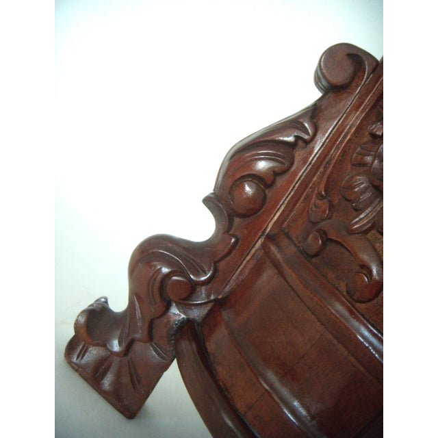 Carved Umbrella Stand With Stylised Birds and Shells - Image 3 of 5