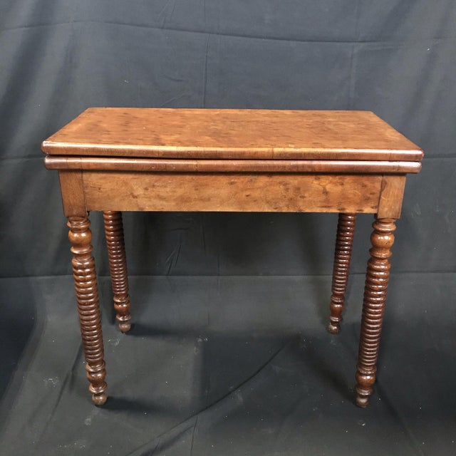 19th Century French Provincial Walnut Game Table or Console For Sale - Image 10 of 10