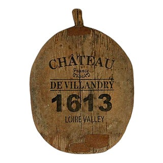 Antique French Stenciled Cutting Board For Sale