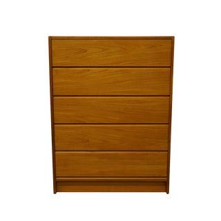 """House of Denmark Danish Modern Teak Wood 33"""" Chest of Drawers For Sale"""