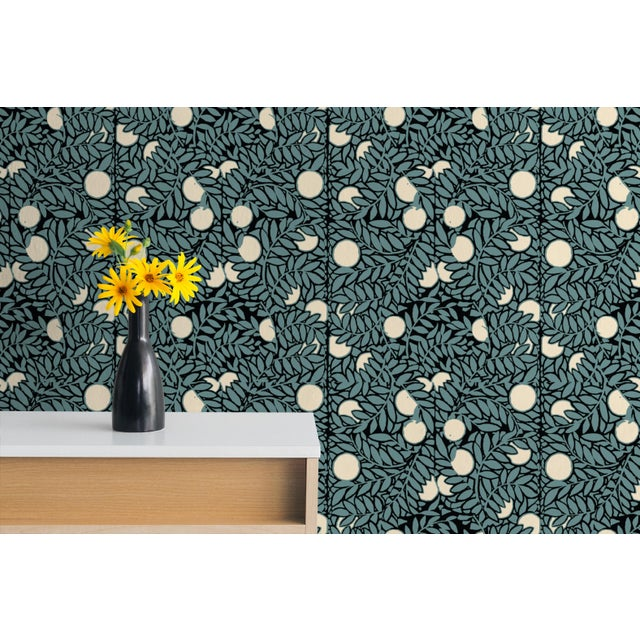 Orange Grove Wallpaper Remnant by Mitchell Black - Image 2 of 2