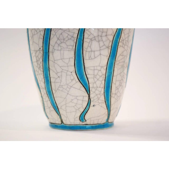 Charles Catteau for Boch Freres Charles Catteau Vase for Boch Freres La Louviere For Sale - Image 4 of 5