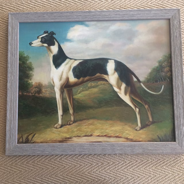 Greyhound Dog Painting For Sale - Image 4 of 4