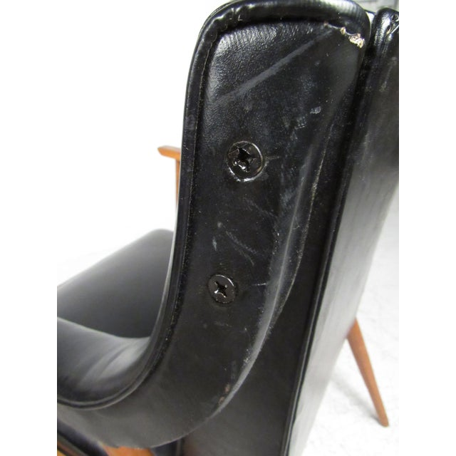 Wood Pair of Vintage Modern Armchairs For Sale - Image 7 of 13