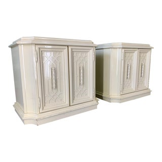 Pair of Nightstands in Chinoiserie Style For Sale