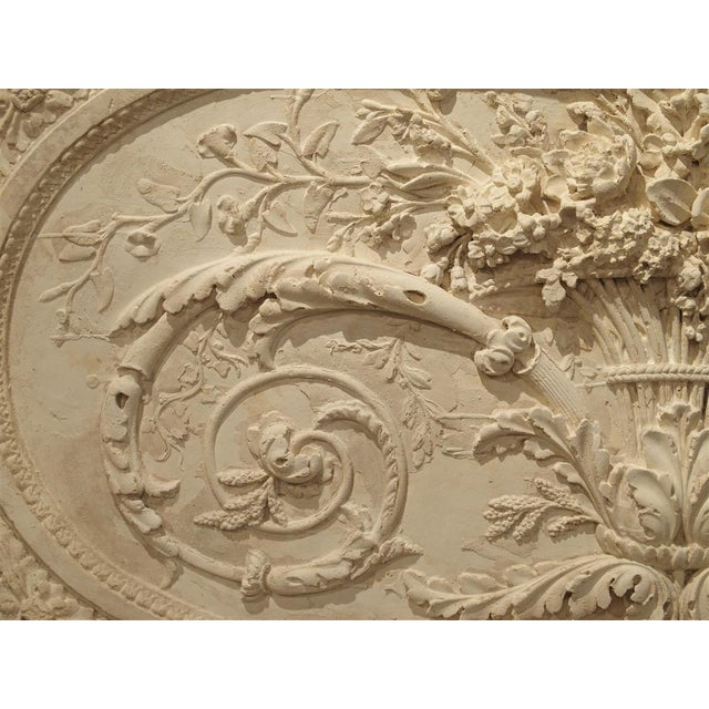 Architectural Plaster and Wood Overdoor Panel From Provence, France For Sale - Image 4 of 9