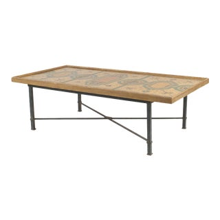 Italian Roman Pompeiian Style Marble Panel Coffee Table For Sale