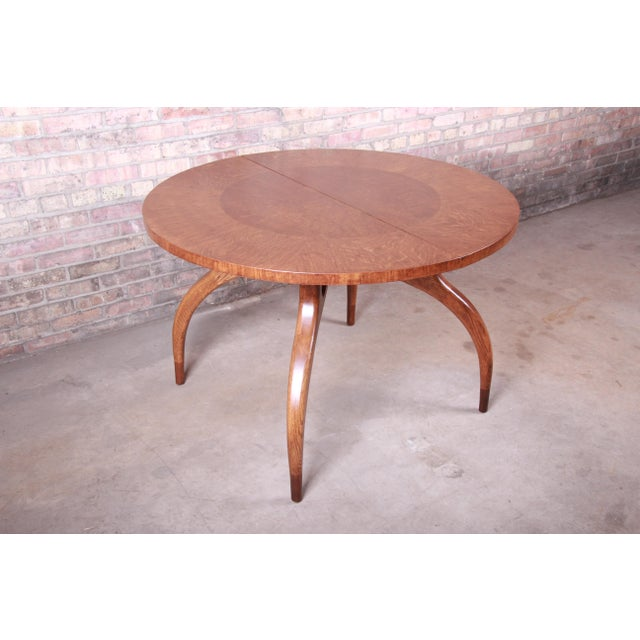 Harold Schwartz for Romweber Mid-Century Modern Spider Leg Extension Dining Table, Newly Restored For Sale - Image 11 of 13