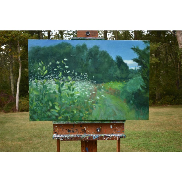 This is at Westport Town Farm in Westport, Massachusetts. Painted en plein air (from life, while on site). The un-mowed...