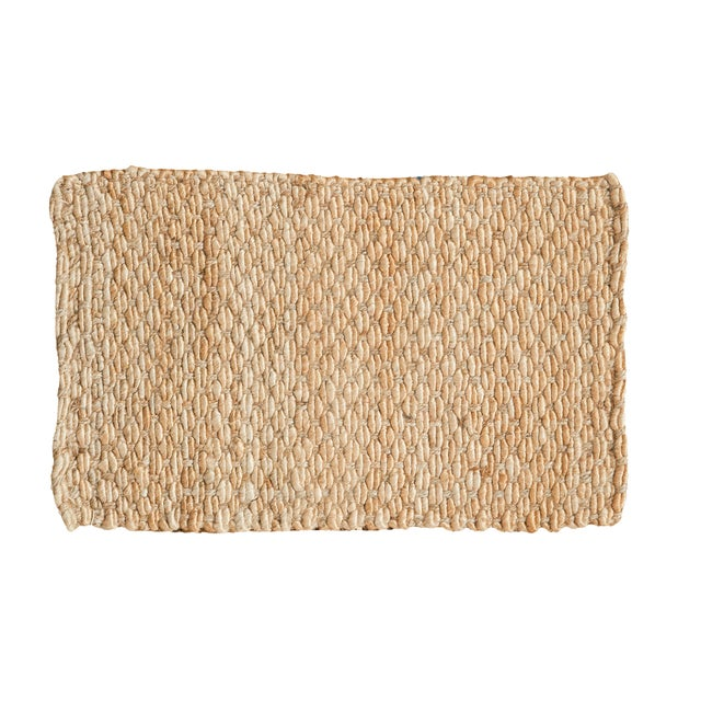 """Hand Braided Gold Entrance Mat - 2' X 3'2"""" - Image 1 of 2"""