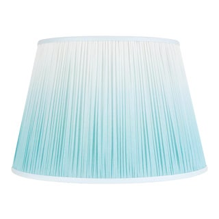 "Ombre Cotton Shirred Shade 18"" Aqua For Sale"