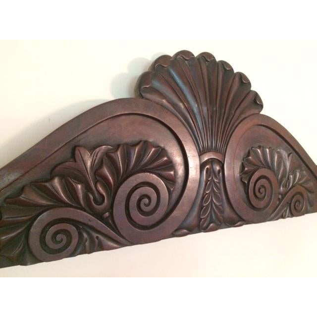 Antique wooden pediment from the late 19thc. And in great condition. Great over a doorway or window.