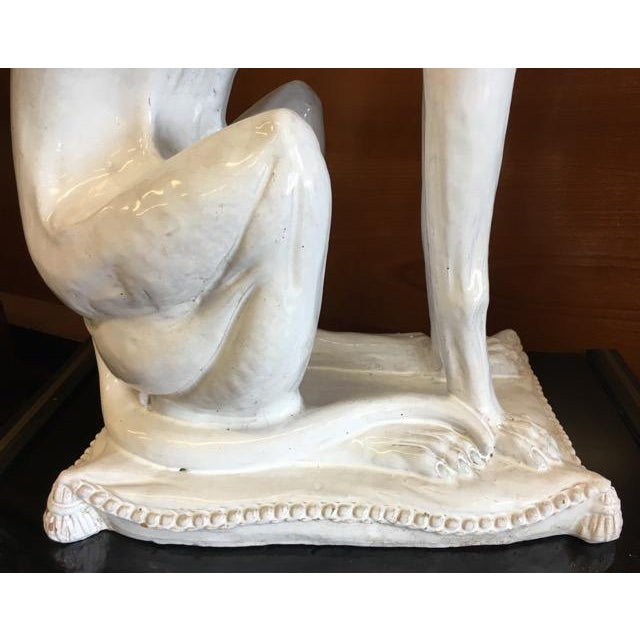 Italian Made Greyhound or Whippet Statue For Sale - Image 10 of 12