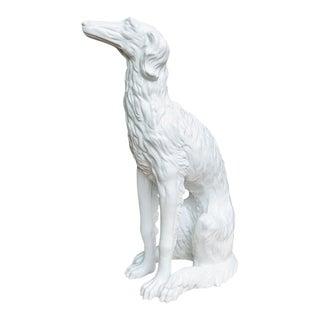 Hollywood Regency Life-Size Ceramic Borzoi Statue