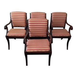 Baker Furniture Regency Style Armchairs - Set of 4