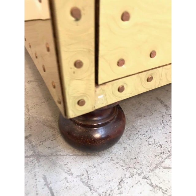 Gold 1970s Hollywood Regency Sarreid Clad 2 Drawer Chest For Sale - Image 8 of 12
