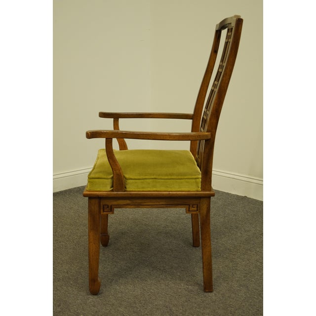Century Furniture Asian Inspired Chinoiserie Dining Arm Chair For Sale In Kansas City - Image 6 of 10