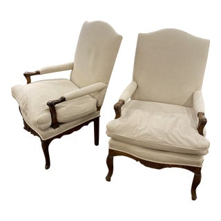 Antique Carved Regence Style Armchairs - a Pair For Sale