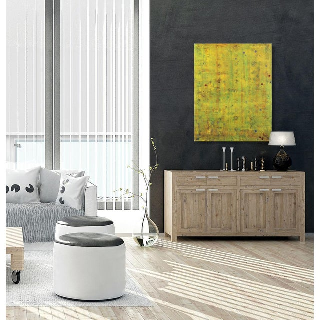 """Yellow Original Oil Painting by Bernhard Zimmer """"Awh 192"""" For Sale - Image 8 of 9"""
