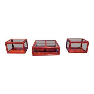 Modern End Tables & Coffee Table - Set of 3 For Sale