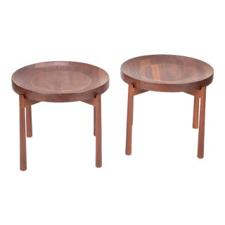 Midcentury Teak Side Tables, style of Jens Quistgaard for DUX- A Pair For Sale