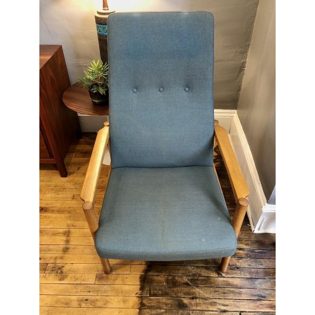 Vintage Swedish Modern High-Back Lounge Chair For Sale - Image 9 of 13