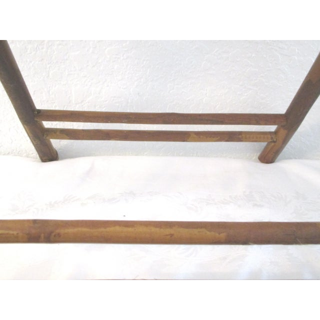 1970s Bamboo Folding Table For Sale - Image 9 of 10