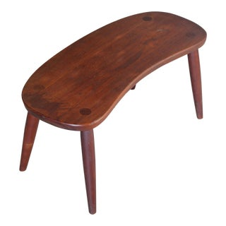 Philip Arctander Style Curved Stool by Illums Bolighus For Sale