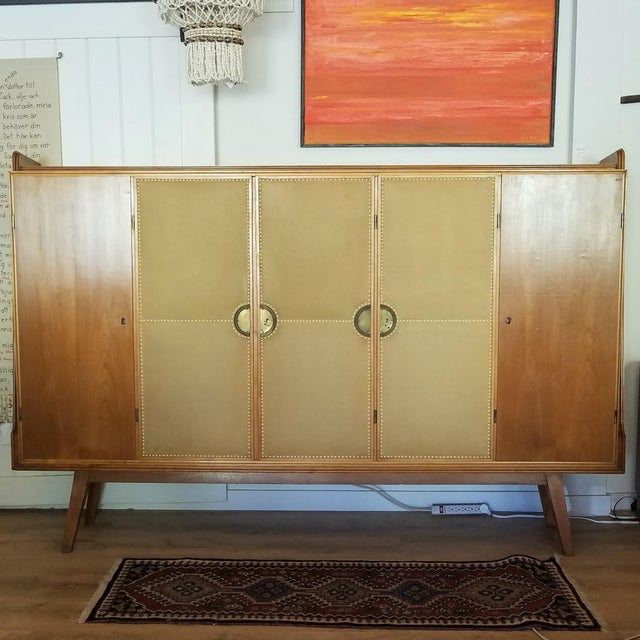 Mid 20th Century Italian Extra Large Maple Credenza For Sale - Image 13 of 13