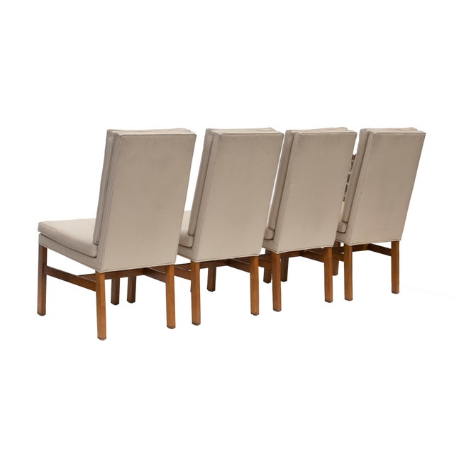 1970s Johnson Furniture Tufted Dining Chairs - Set of 4 For Sale - Image 5 of 12